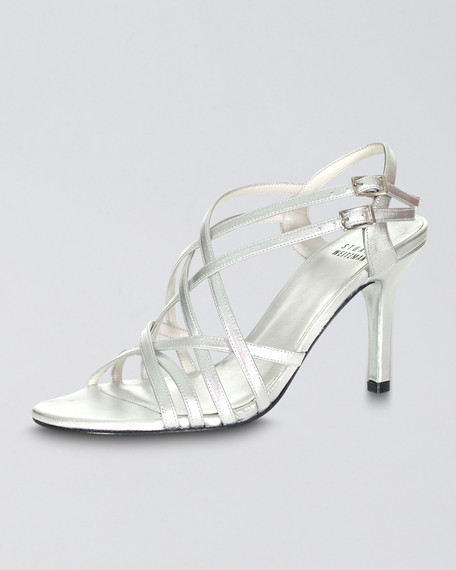 Topline Strappy Evening Sandal, Silver