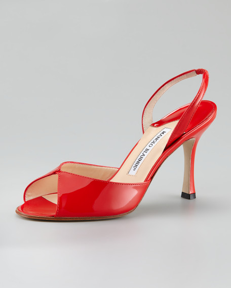 Discos Patent Leather Slingback