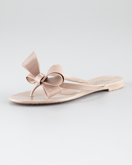 32b6561d335f0 Valentino Couture Bow Jelly Thong Sandal