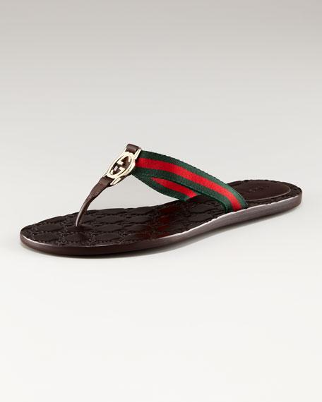 Gucci 'GG Nastro' Flat Thong