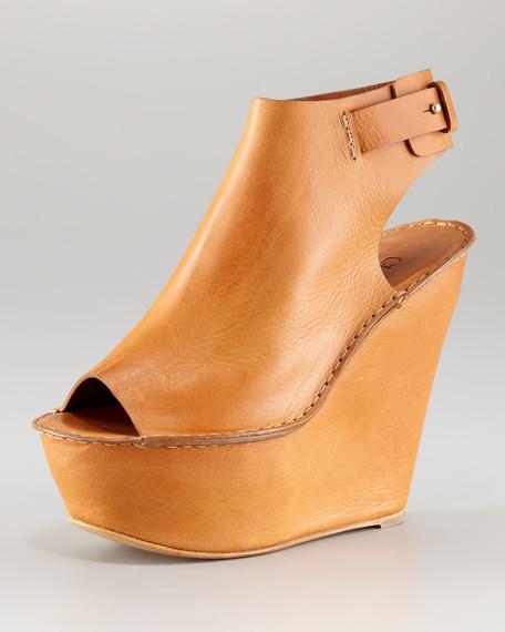 Open-Toe Cuffed Wedge