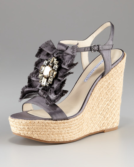 Paige Charcoal Wedge Platform