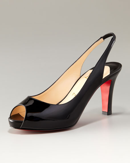 Prive Patent Leather Open-Toe Platform Pump