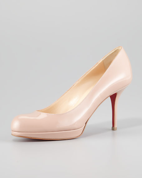 Prorata Patent Leather Platform Red Sole Pump