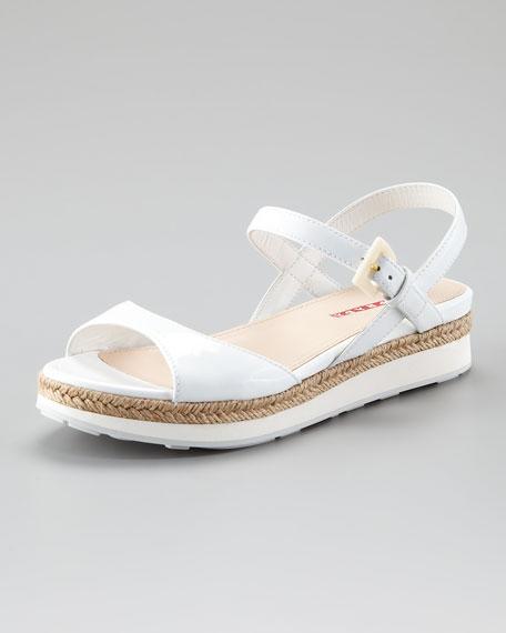 Patent Leather Espadrille Sandal