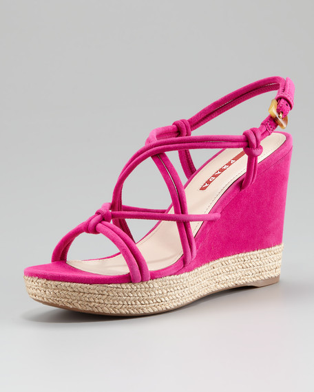 Strappy Platform Espadrille Sandal