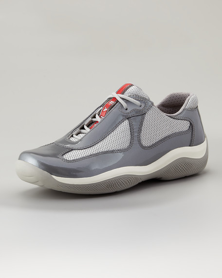 Lace-Up Sport Sneaker, Gray