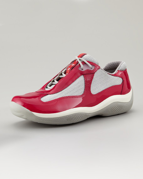 Lace-Up Sport Sneaker, Magenta