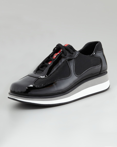 Wedge Sneaker, Black