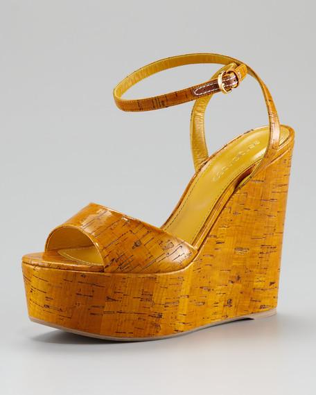 Cork Platform Wedge Sandal