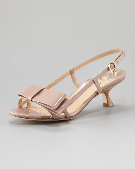 Patent Leather Bow Sandal