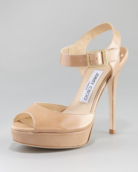 Linda Patent Platform Sandal