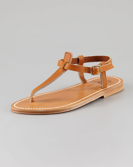 Flat T-Strap Thong Sandal