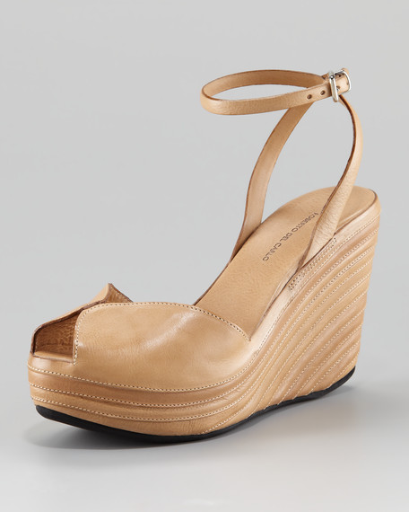 Fig Peep-Toe Ankle-Strap Wedge