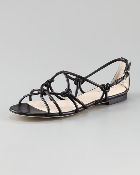 Napa Knotted Flat Sandal