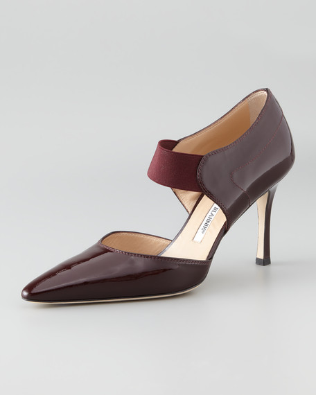 Timen Patent Leather Ankle-Strap Pump