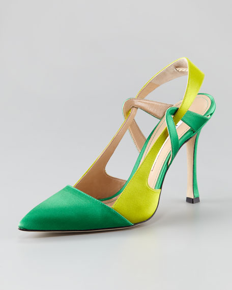 Ricarda Colorblock Satin Pump