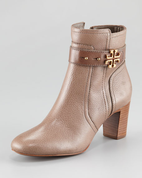 Elina Mid-Heel Bootie, Asphalt