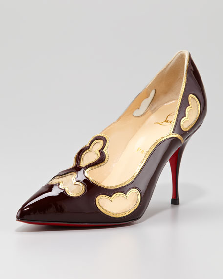 Indies Tooled Red Sole Pump