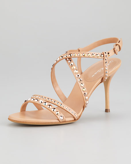 Crystal-Covered Strappy Sandal