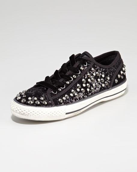Vox Studded-Cap Toe Sequin Sneaker