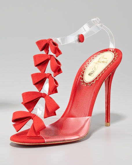 Bow Bow T-Strap Red Sole Sandal