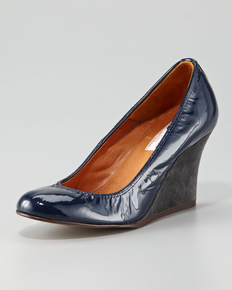 Patent Leather Wedge