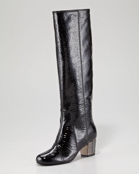 Embellished Heel Boot