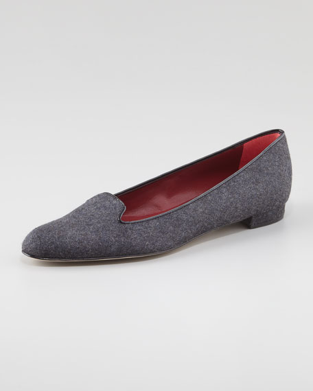 Sharifac Flannel Moccasin Loafer