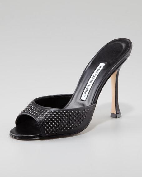 Astuta Studded Slide, Black