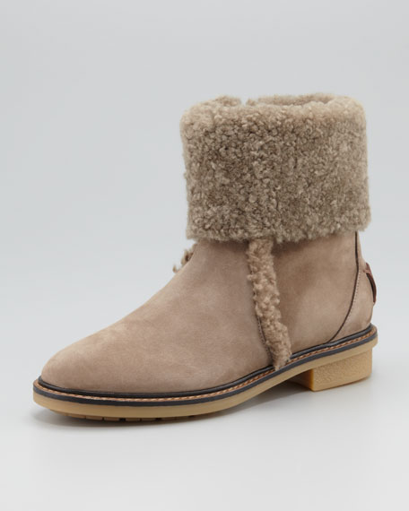 Shearling Flat Bootie