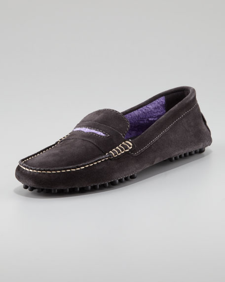 Suede Driver, Gray