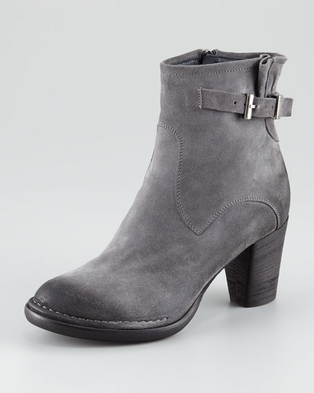 Distressed Suede Bootie