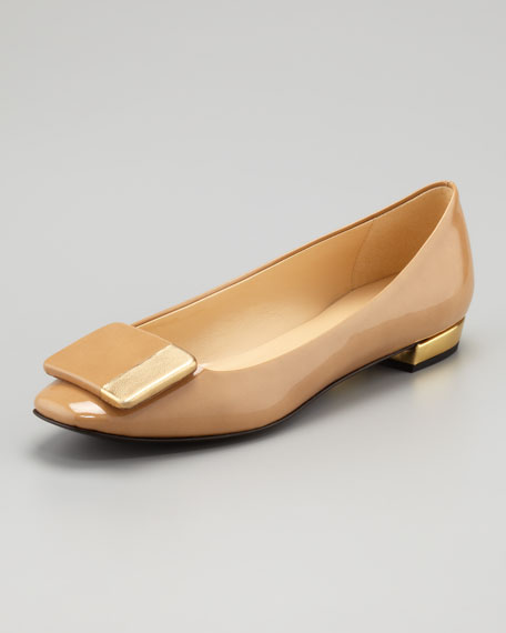 nashelle patent leather flat