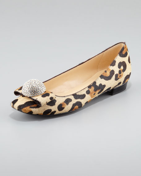 kate spade new york nadira leopard-print ballerina flat