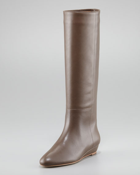Matilde Demi-Wedge Leather Boot
