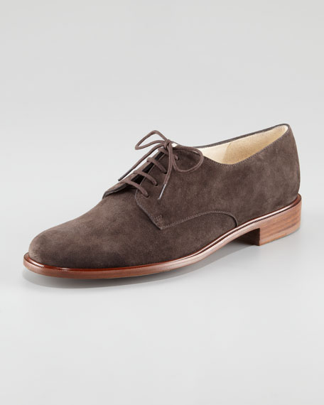 Jasd Suede Lace-Up Oxford
