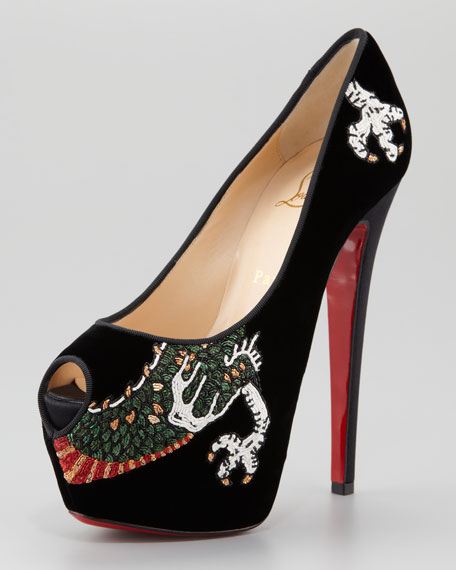 Highness Dragon Tattoo Platform Red Sole Pump