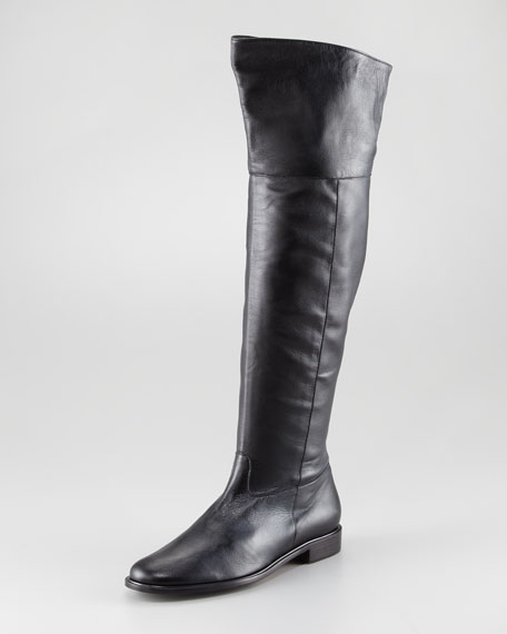 Jini Flat Leather Over-the-Knee Boot