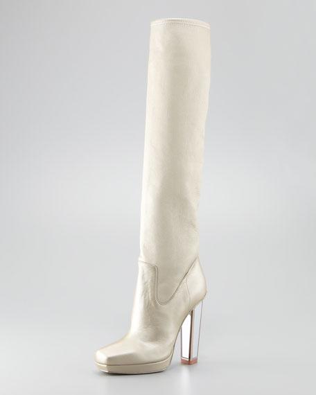 To-the-Knee Mirror-Heel Boot