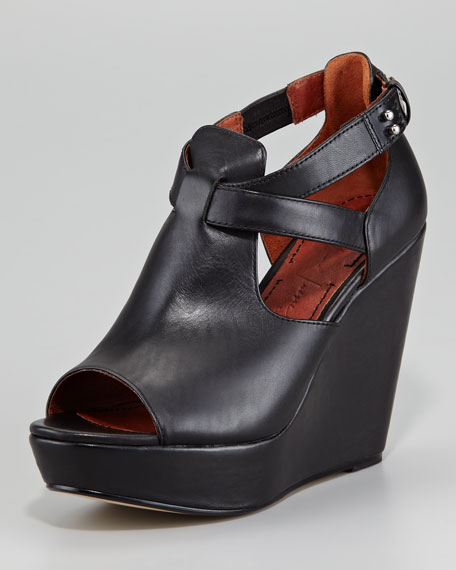 Harly Leather Wedge Sandals