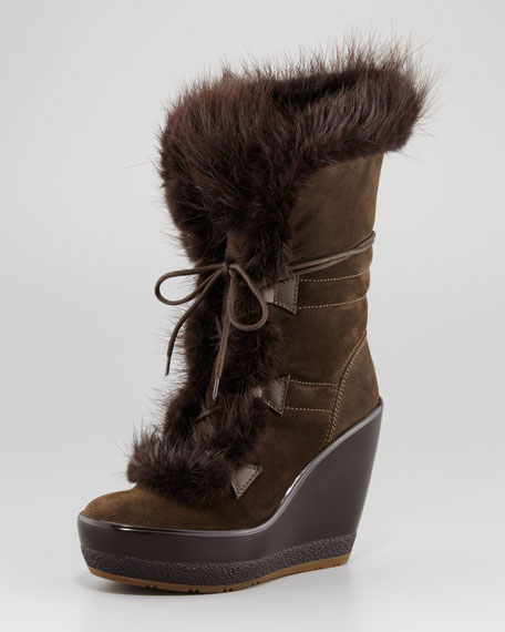 Mayrhofen Beaver Wedge Boot, Militaire