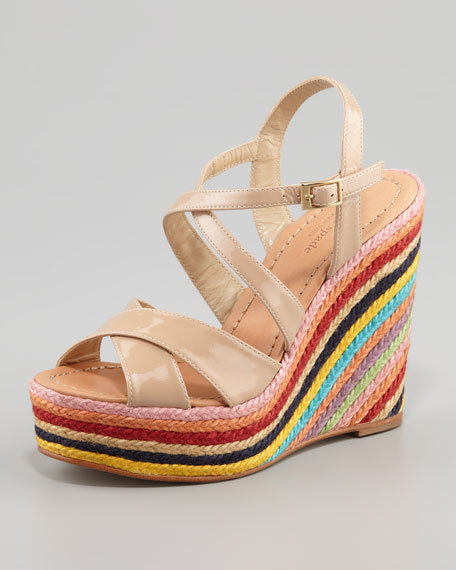 lux strappy jute-wedge sandal