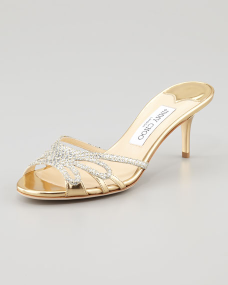 Mimi Glitter Slip-On Mule Sandal