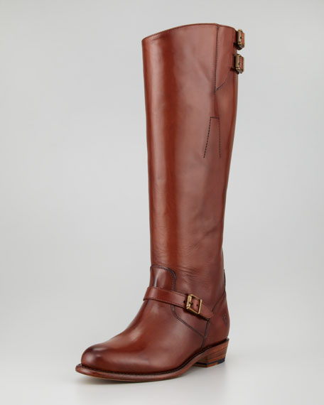 Dorado Buckled Leather Riding Boot