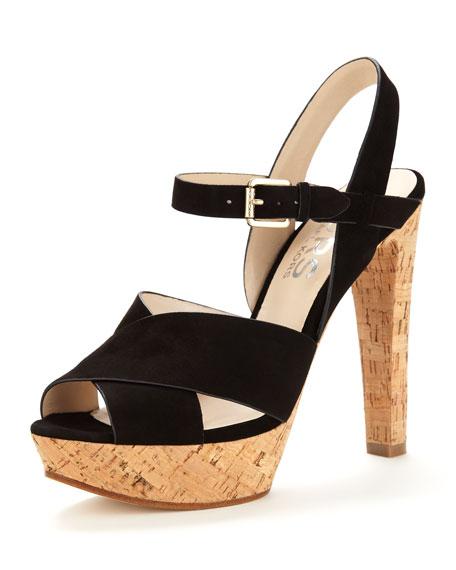 Adair Cork/Suede Platform Sandal