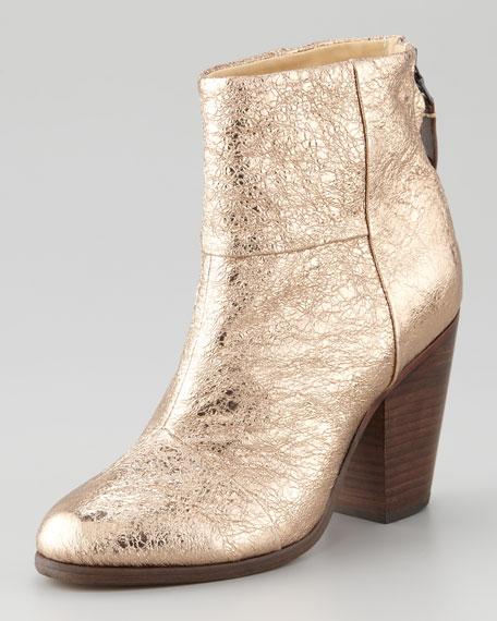 Newbury Metallic Bootie, Gold