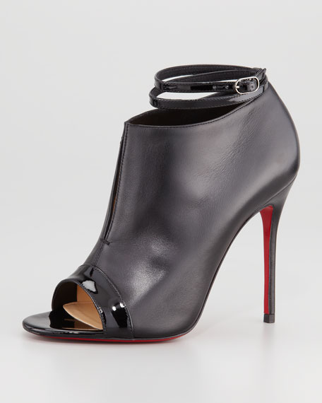 Open Toe Red Sole Bootie With Ankle Strap