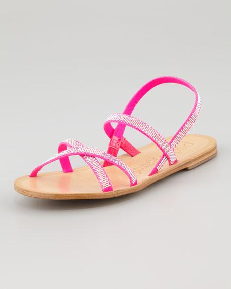 Zana Flat Crystal Sandal