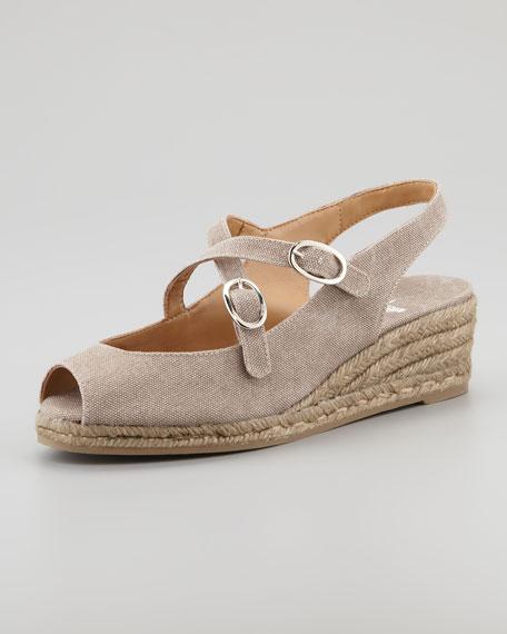 Belen Wedge Sandals, Taupe